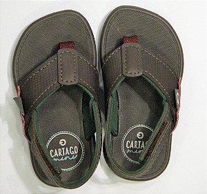 Chinelo Cartago Meus Primeiros P/11400 Marrom/verde