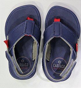 Chinelo Cartago Meus Primeiros Cinza/azul