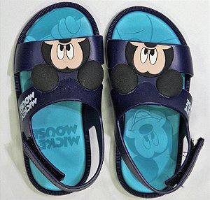 Sandália Mickey E Minnie Diversao Azul/azul