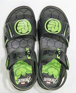 Sandálias Marvel Hero Glasses/21998 Preto/verde