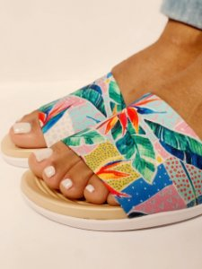 Chinelo Beira Rio Multi Color