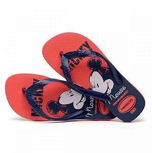 Chinelo Havaianas Top Disney Vermelho/azul Marinho