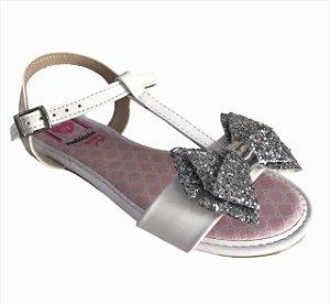 Sandálias Molekinha Branco/prata