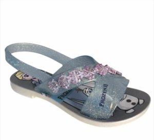 Sandálias Disney Cinza/azul Glitter