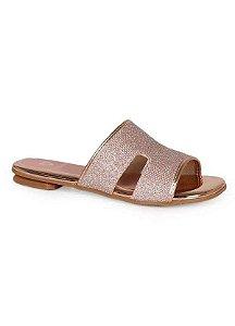 Sandálias Molekinha Ouro Rosado