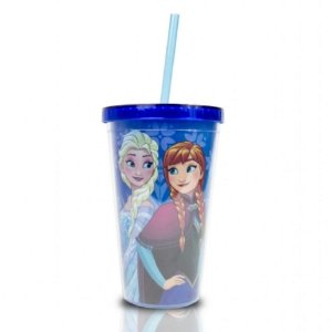 Copo com Canudo Frozen 500 ml - Disney