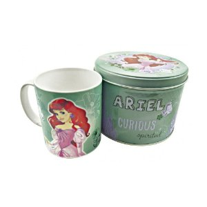 Caneca de Porcelana na Lata Pequena Sereia Princesas - Disney