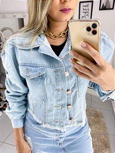 Jaqueta Jeans Manga Bufante Clara