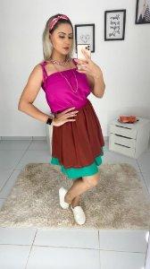 Vestido Tri-color