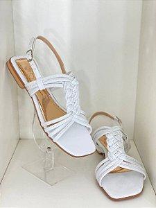 Percata Trançada Branca D'Shoes