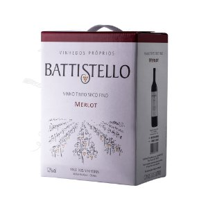 Vinho tinto Merlot Battistello - bag in box - 3 litros