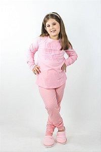 Pijama Menina Inverno Poá