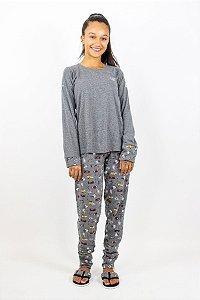 Pijama Menina Inverno Futebol Americano