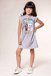 Vestido Manga Curta Feminino Infanti Ref 47005