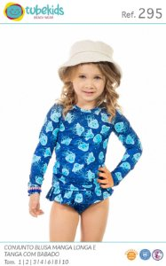Biquini Com Blusa Proteção Feminino Tubekids Ref 295