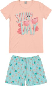 Pijama Feminino Adulto (mãe e filha ) Malwee Ref 83370