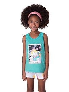 Pijama Feminino Infantil Mãe e Filha Veggi Ref 0533