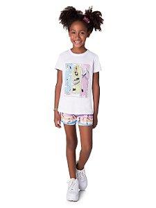 Pijama Feminino Infantil Para Pintar Veggi Ref 0318