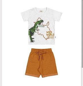 Conjunto Masculino Camiseta e Bermuda Moletinho Elian Ref 221161