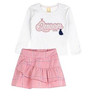 Conjunto Colorittá blusa e saia