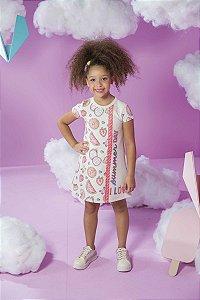 Vestido Moletinho Feminino Kukie Ref 47345