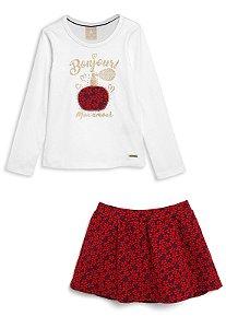 Conjunto saia e blusa Colorittá Ref 172304