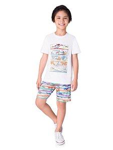 Pijama Masculino Para Pintar com 4 Canetinhas Veggi Ref 0316