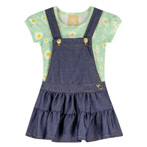 Jardineira+Blusa Colorittá Ref 172470