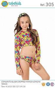 Biquini Com Blusa Proteção Feminino Tubekids Ref 305