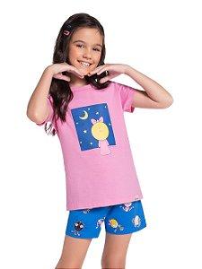 Pijama Feminino Infantil (mãe e filha)  Veggi Ref 0531