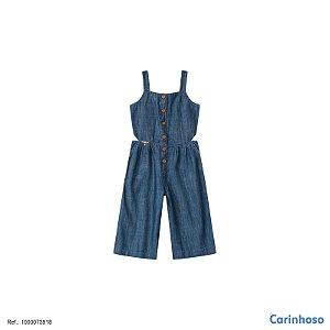Macacão Pantacur jeans Carinhoso Ref 73918