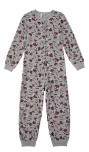 Pijama Masculino Macacão Manga longa fino Malwee Ref 77424