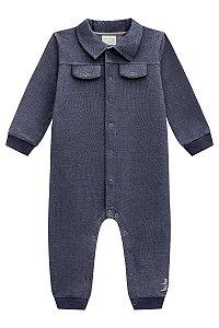 Macacão Bebê Jeans Manga Longa LucBoo Ref 45582