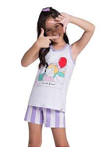 Pijama Feminino Infantil (mãe e filha) Regata Veggi Ref 0534