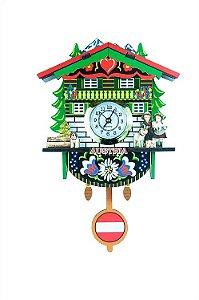 Relógio Cuco Chalé Austríaco