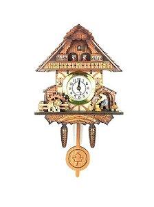Relógio Cuco Chalé Lenhador