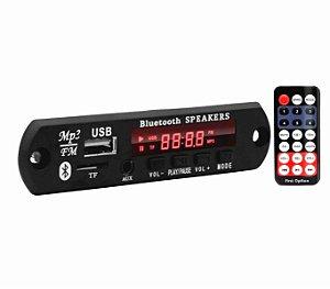 Placa reprodutora BT First Option USB / controle FM-560