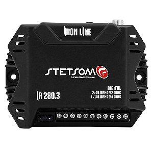 Módulo Amplificador Stetsom Iron Line IR280.3 280w Rms 2 Ohms 3 Canais