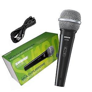 Microfone Profissional Shure SV100 com Cabo original
