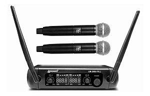 Microfone Sem Fio Lm-258u Pll Uhf Com 2 Bastões Lexsen