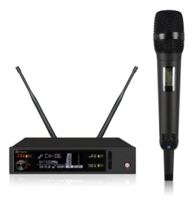 Microfone Sem Fio Kadosh K-1201m Dinâmico Cardióide Preto