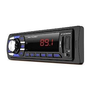 Auto Rádio Automotivo Multilaser Pen Drive 8gb E Bluetooth P3324p