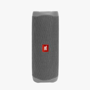 Caixa De Som Jbl Flip 5 Bluetooth À Prova D'água Portátil Cinza