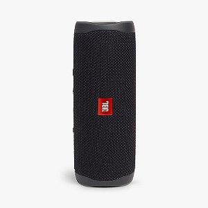 Caixa De Som Jbl Flip 5 Bluetooth À Prova D'água Portátil Preta