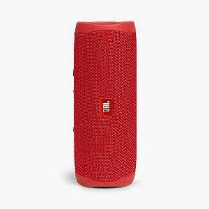 Caixa De Som Jbl Flip 5 Bluetooth À Prova D'água Portátil Vermelha
