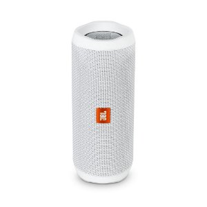 Caixa de som JBL portátil Flip 4 White com Bluetooth