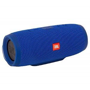 Caixa De Som Portátil Jbl Charge 3 Bluetooth Azul 20w