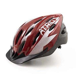 Capacete Ciclismo Bike Mtb Atrio Tamanho M Vermelho Bi162