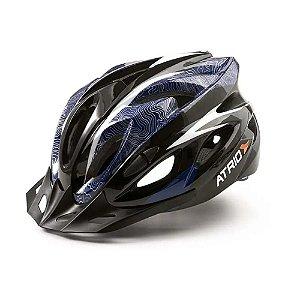 Capacete Para Ciclista Bike Mtb Atrio Tamanho M Azul Bi178