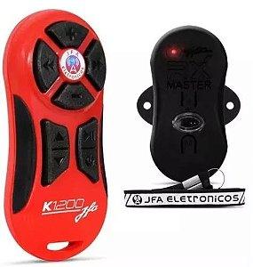 Controle Longa Distancia JFA K1200 Vermelho com Preto